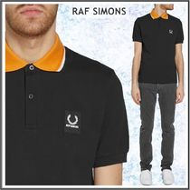 Raf Simons★× Fred Perry コントラスト襟 ポロシャツ*ブラック