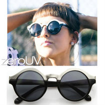 全3色*zeroUV*WOMEN'S DESIGNER TWO TONE ROUND SUNGLASSES