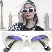 全3色*zeroUV*WOMEN'S MODERN CAT EYE BOTTOM CUT SUNGLASSES