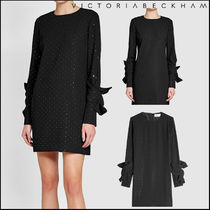 Victoria Beckham★Embellished Twist Sleeve Dress