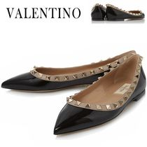VALENTINO正規品/EMS/送料込み Rock Stud Ballerina Flat Shoes