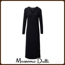 MassimoDutti♪RIBBED DRESS WITH SNAP BUTTONS
