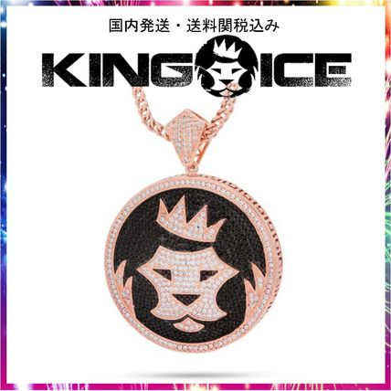 King Ice ネックレス・チョーカー 日本未入荷☆KING ICE☆Studded King Ice Shield Necklace