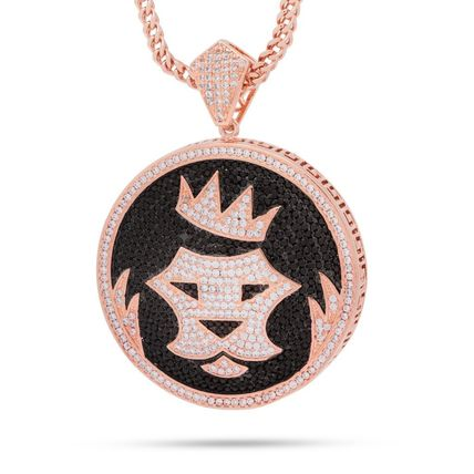 King Ice ネックレス・チョーカー 日本未入荷☆KING ICE☆Studded King Ice Shield Necklace(2)