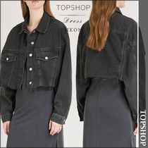 【国内発送・関税込】TOPSHOP★Raw-hem denim jacket