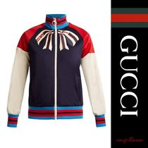 【国内発送】GUCCI ジャージ Bow-applique zip-through jersey