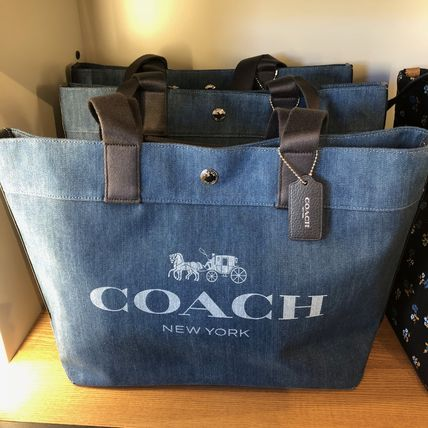 Coach☆SALE!大人気☆デニムトート☆denim canvas tote☆F25902