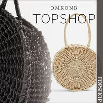 【国内発送・関税込】TOPSHOP★Bella Straw Circle Tote Bag