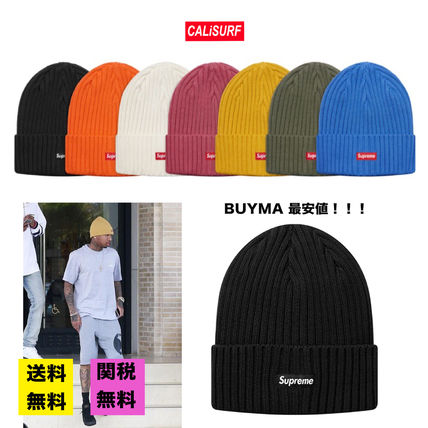 Supreme ニットキャップ・ビーニー 【BUYMA最安値】SS18 Supreme Overdyed Ribbed Beanie/送料込み