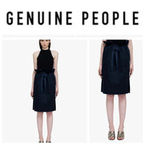 【GENUINE PEOPLE】●日本未入荷●Waist Cotton Skirt