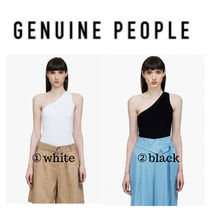 【GENUINE PEOPLE】●日本未入荷●One Shoulder  Ribbed Top