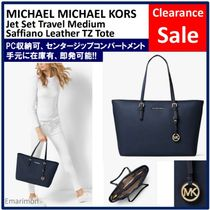 ★MICHAEL KORS★JET SET TRAVEL Medium Saffiano Top Zip Tote