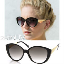 全4色*zeroUV*LARGE WOMEN'S FASHION METAL ARM CAT EYE SUNGLAS