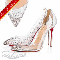 ★18SS★【Louboutin】Degrastrass 100 crystal PVC パンプス