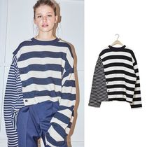 NOHANT(ノアン) Tシャツ・カットソー ☆NOHANT☆ DOUBLE STRIPED COTTON-JERSEY T-SHIRT STRIPE-NAVY