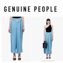 【GENUINE PEOPLE】●日本未入荷●Soft Wide Leg Belted Pants