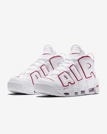 Men's AIR MORE UPTEMPO  White/Varsity Red