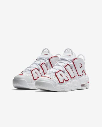 大人もOK AIR MORE UPTEMPO (GS) White/Varsity Red