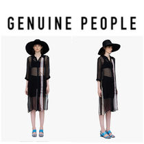 【GENUINE PEOPLE】●日本未入荷●Silk Sheer Shirt Dress