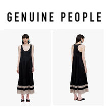 【GENUINE PEOPLE】●日本未入荷●Silk Ruffle Midi Dress