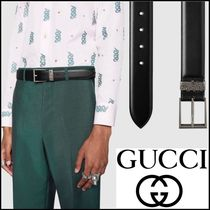 GUCCI_正規品_Leather belt with snakeStyle☆関税・送料込み☆