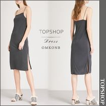 【国内発送・関税込】TOPSHOP★Square-neck woven slip dress