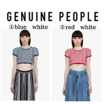 【GENUINE PEOPLE】●日本未入荷●Crop Viscose Nylon Top