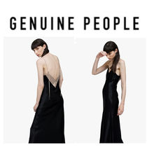 【GENUINE PEOPLE】●日本未入荷●Silk V Neck Maxi Dress