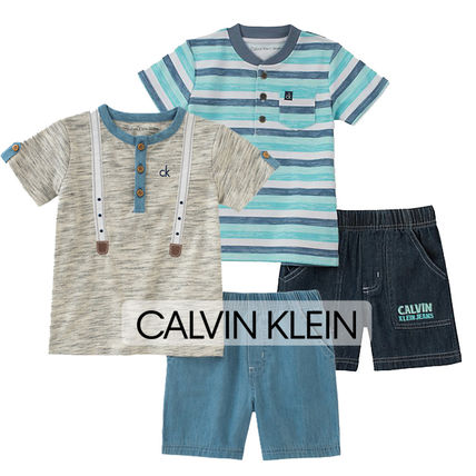 【Calvin Klein】シャツ+ショーツ2点セット☆ボーイズ2色