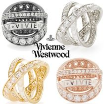 ◆VivienneWestwood◆3連 キラキラ&ロゴ♪Aline Ring/リング