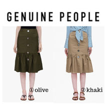 【GENUINE PEOPLE】●日本未入荷●Cotton Blend Mermaid Skirt
