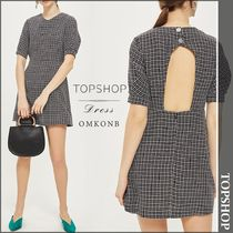 【国内発送・関税込】TOPSHOP★Checked woven mini dress