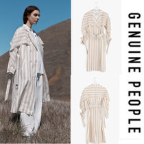 【GENUINE PEOPLE】●日本未入荷●Striped Linen Trench Coat