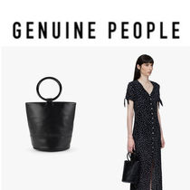 【GENUINE PEOPLE】●日本未入荷●Faux Leather Mini Bucket bag