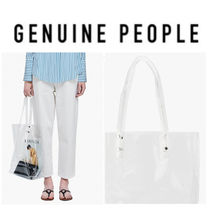 【GENUINE PEOPLE】●日本未入荷●Transparent PVC Tote Bag
