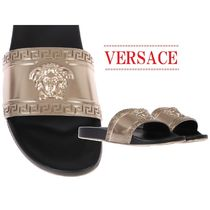 【VERSACE】slide sandal with Medusa Headスライドサンダル