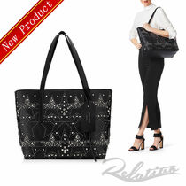 ☆18AW☆【Jimmy Choo】TWIST EAST WEST Graphic Star Stud Tote