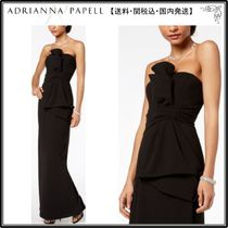 Adrianna Papell(アドリアナパぺル) ドレス-ロング 【海外限定】AdriannaPapellガウン☆Strapless Ruched Gown