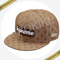 【7-3/8】Supreme Monogram Box Logo New Era Cap モノグラム 茶