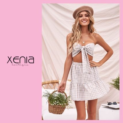 XENIA boutique セットアップ 関税/送料込*XENIA boutique* ギンガムチェックセットアップ