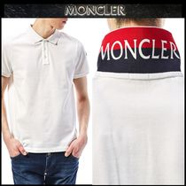 【MONCLER】配色 プリント ロゴポロシャツ WHITE/追跡付