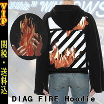 """◆◆VIP◆◆ Off-White """"DIAG FIRE"""" ロングスリーブ パーカー"""