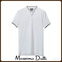 MassimoDutti♪COTTON POLO SHIRT WITH CONTRASTING DETAILS