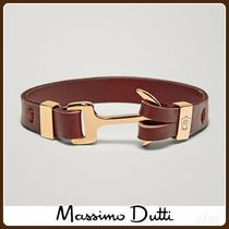 MassimoDutti♪LEATHER BRACELET WITH ANCHOR DETAIL