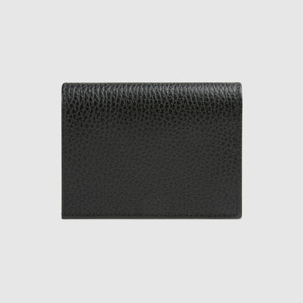 GUCCI 折りたたみ財布 グッチ Leather card case with bow ミニ財布 ブラック 524289(4)