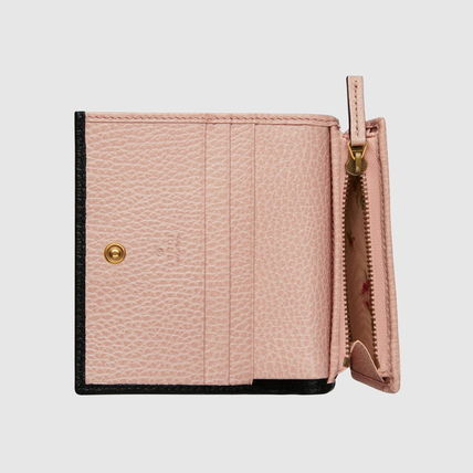 GUCCI 折りたたみ財布 グッチ Leather card case with bow ミニ財布 ブラック 524289(6)