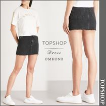 【国内発送・関税込】TOPSHOP★Raw hem denim mini skirt