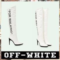 《最新作!!》18AW [OFF-WHITE]FOR WALKING LEATHER BOOTS