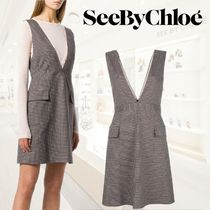 【18AW】★SEE BY CHLOE★Pinafore デイドレス