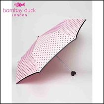 Bombay duck(ボンベイダック) 傘・レイングッズ 【Bombay duck】Bisous Hearts Handbag Umbrella with Heart